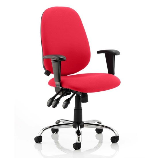 Lisbon Office Chair In Bergamot Cherry With Arms