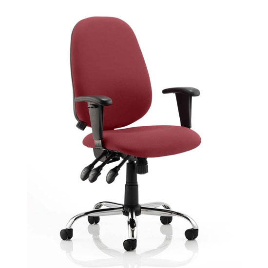 Lisbon Office Chair In Ginseng Chilli With Arms_1