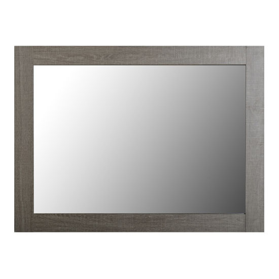 Lisbon Wall Bedroom Mirror In Black Wood Grain Frame