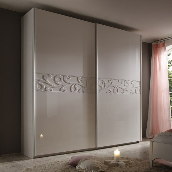 Lisbon 240x210cm Sliding Wardrobe In White And High Gloss Fronts
