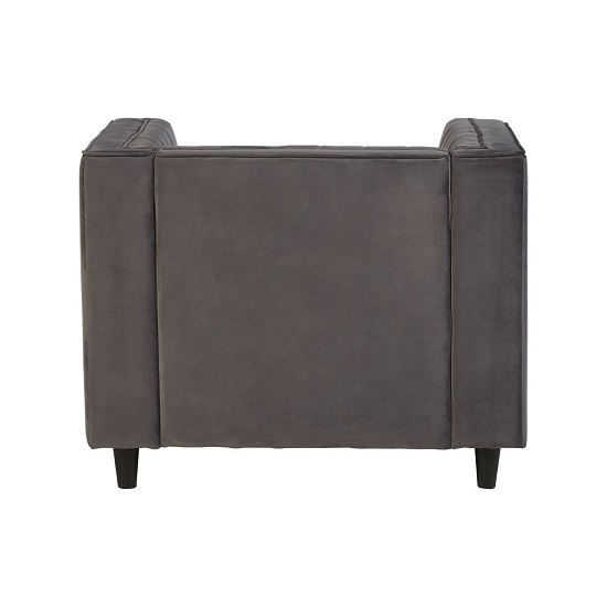 Lismore Contemporary Sofa Chair In Grey Velvet_4