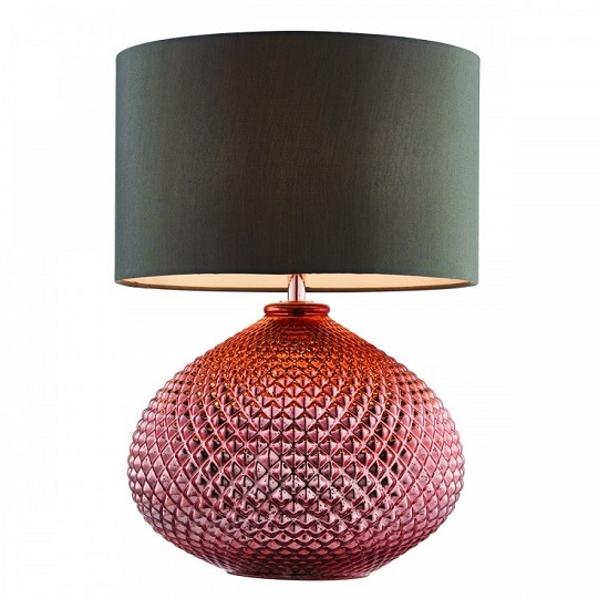Livia Table Lamp With Diamond Glass Base