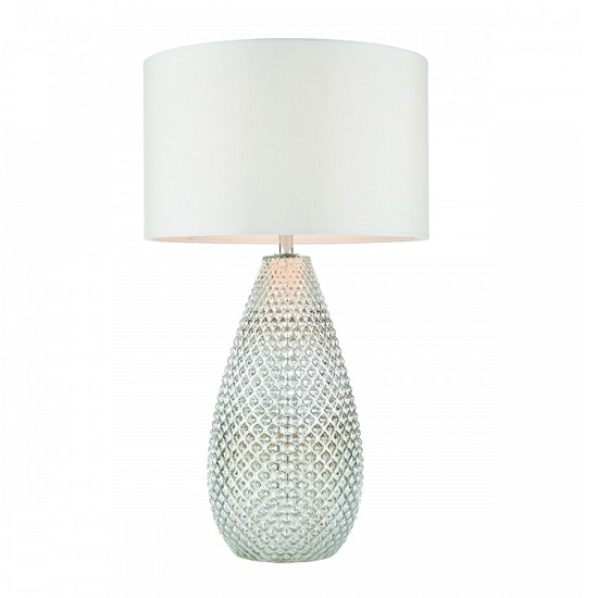 Livia Table Lamp In Silver Mercury Finish