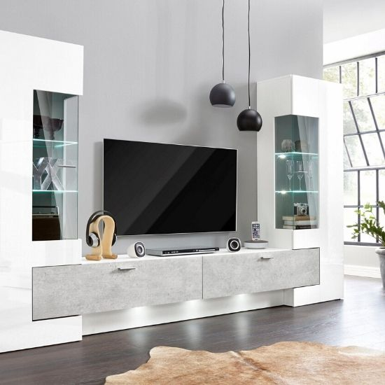 Discover our full range of living room furniture sets & packages to make your room stylish. Wall entertainment units with led lights.