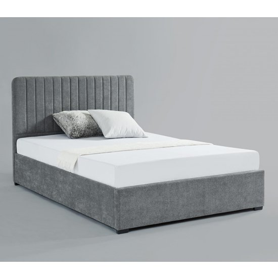 Livingstone Fabric Storage King Size Bed In Grey