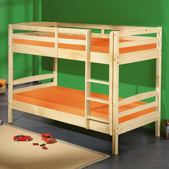 Livius Wooden Bunk Bed In Natural Oak