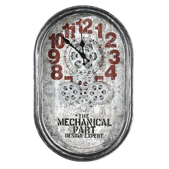 Lodge Glass Wall Clock With Silver Metal Frame