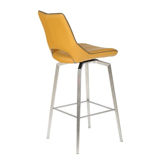 Loft Bar Chair In Medallion Yellow Brushed Stainless Steel Legs_3