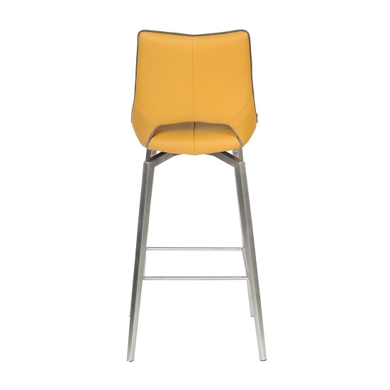 Loft Bar Chair In Medallion Yellow Brushed Stainless Steel Legs_4