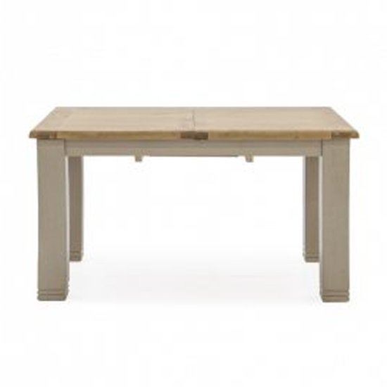 Logan Extending Wooden Dining Table In Taupe