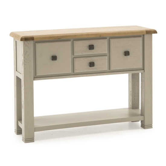 Logan Large Wooden Console Table In Taupe