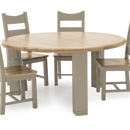 Logan Round Wooden Dining Table In Taupe_1