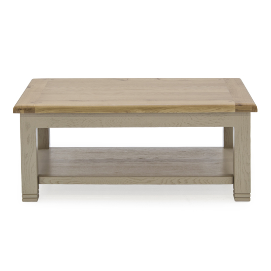 Logan Wooden Coffee Table In Taupe
