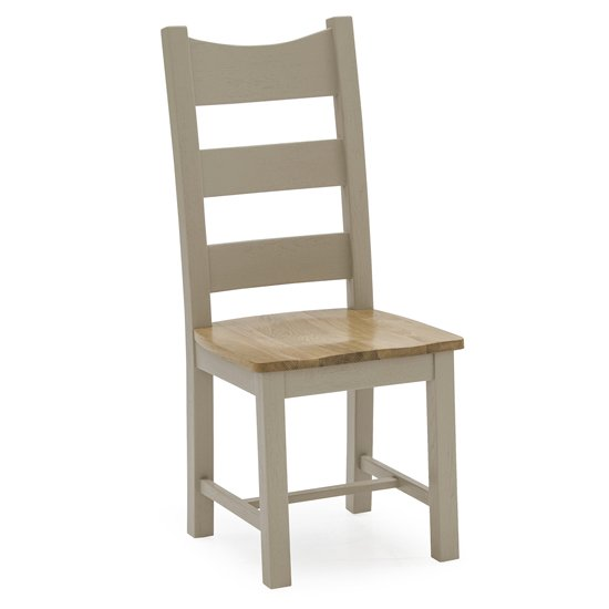 Logan Wooden Dining Chair With Solid Seat In Taupe