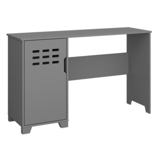 View Loke wooden laptop desk in folkestone grey with 1 door