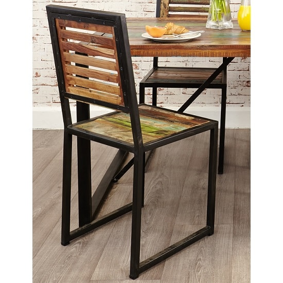 London Urban Chic Wooden Dining Chair In A Pair_2