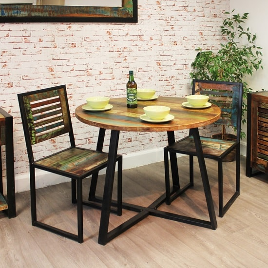London Urban Chic Wooden Dining Chair In A Pair_4