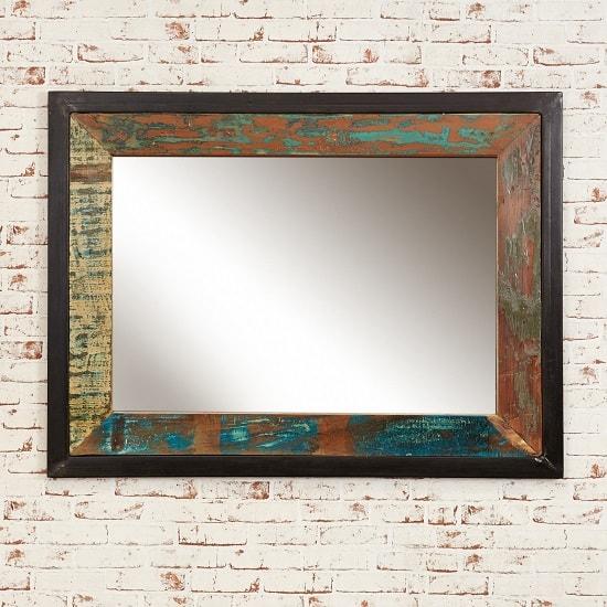 London Urban Chic Wooden Rectangular Large Wall Mirror