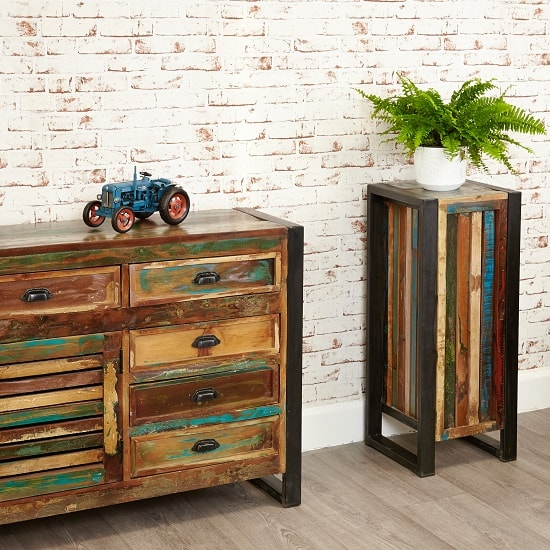 London Urban Chic Wooden Plant Stand Or Lamp Table 32155