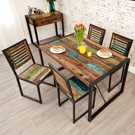 London Urban Chic Wooden Dining Chair In A Pair_6