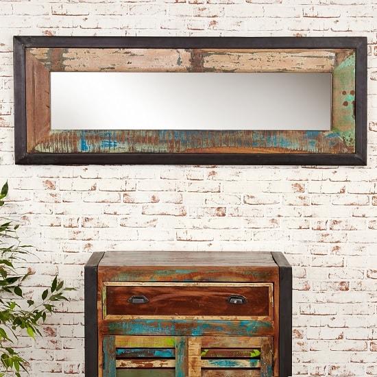 London Urban Chic Wooden Rectangular Wall Mirror