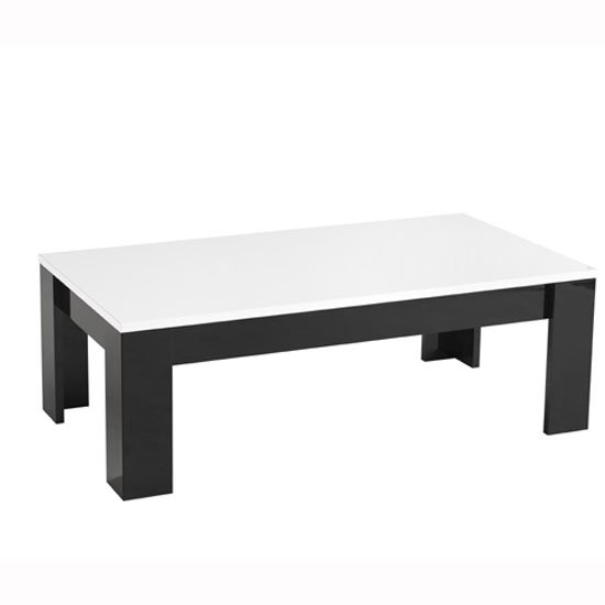 Lorenz Coffee Table Rectangular In Black And White High Gloss_2