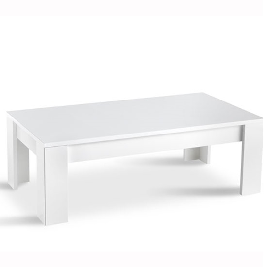 Lorenz Coffee Table Rectangular In White High Gloss 29225