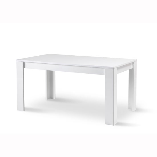 Lorenz Dining Table Rectangular In White High Gloss