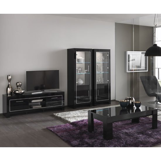 living room furniture sets lorenz living room set in black high gloss