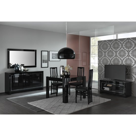 Lorenz Sideboard In Black High Gloss With 3 Doors_2