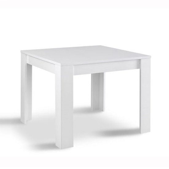 Lorenz Dining Table Square In White High Gloss