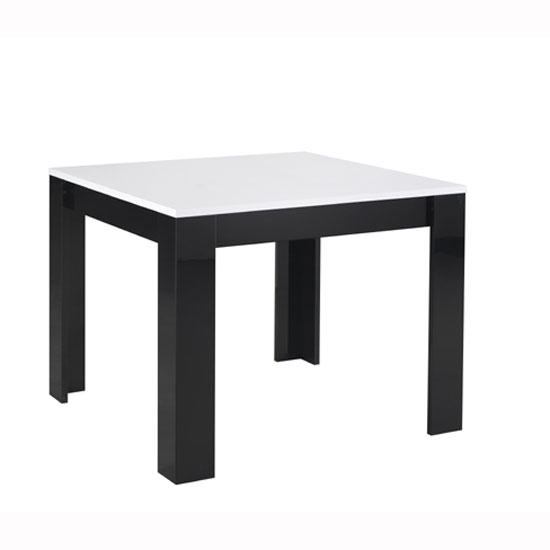 Lorenz Dining Table Square In Black And White High Gloss