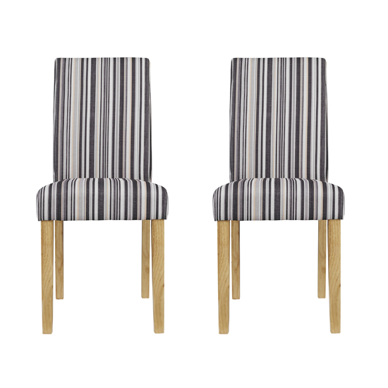 Lorenzo Striped Dining Chairs In Pair