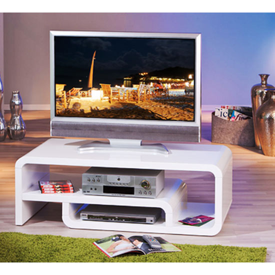 lorenzo high gloss tv stand in white 19046 furniture in. Black Bedroom Furniture Sets. Home Design Ideas