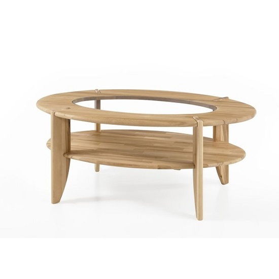 Awe Inspiring Louisa Wooden Coffee Table In Core Beech With Glass Top Inserts Andrewgaddart Wooden Chair Designs For Living Room Andrewgaddartcom