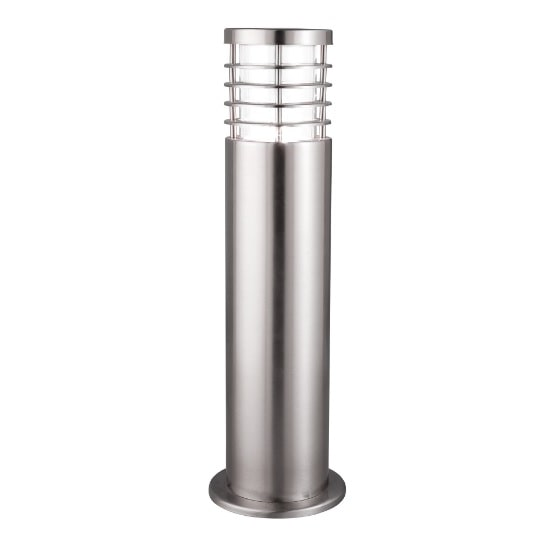 Satin Silver Outdoor Post Light With Polycarbonate Diffuser