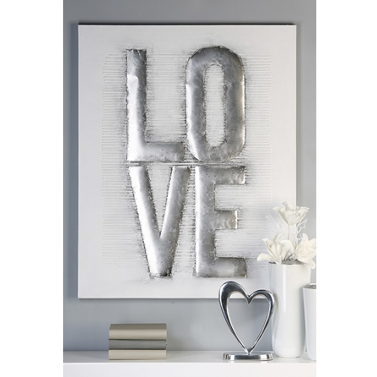 Love Canvas Oil Painting In Wooden Frame With Aluminium Trims