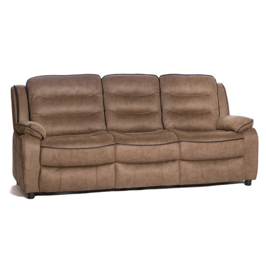 Lovell Contemporary Fabric 3 Seater Sofa In Caramel_1