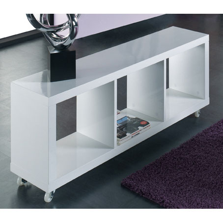 Curio stone high gloss finish dressing table with 1 drawer 2 - Table tv a roulettes ...