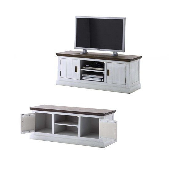 Gomera TV Stand Lowboard In Wood Acacia