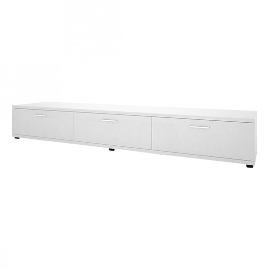 Corona Lowboard Tv Stand In White High Gloss
