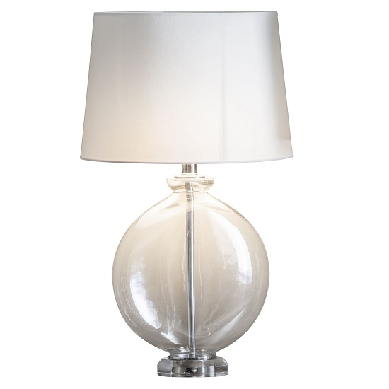 Lowther Table Lamp With Bowl Shaped Glass Base