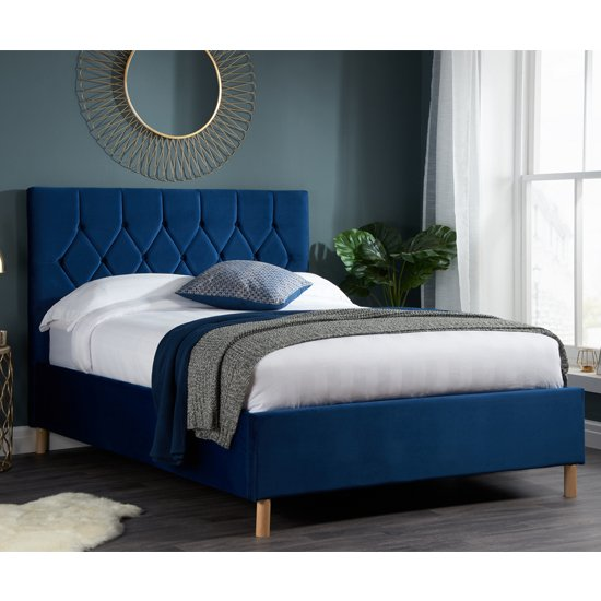 Loxley Fabric Upholstered King Size Ottoman Bed In Blue_1