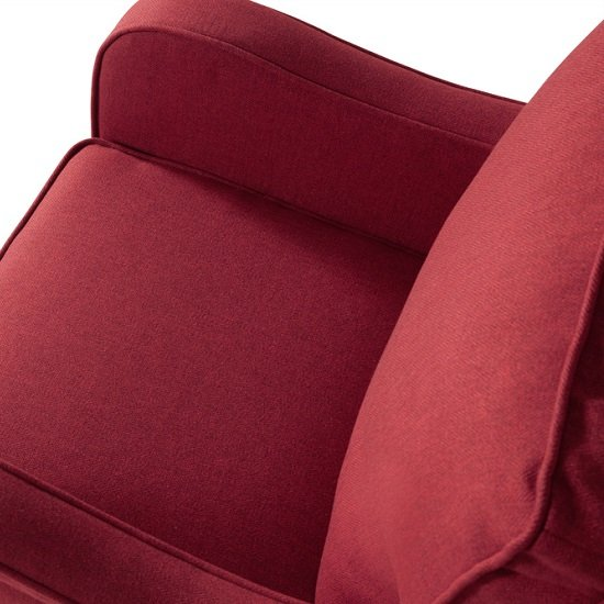 Lucas Sofa Chair In Scarlet Fabric With Wooden Legs_4