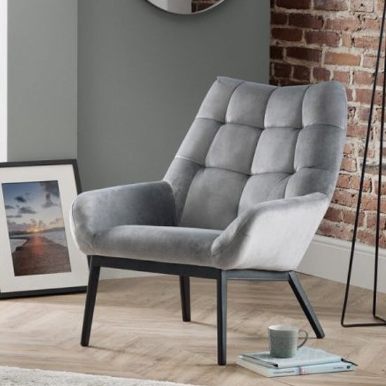 Lucerne Velvet Lounge Chaise Chair In Grey_1