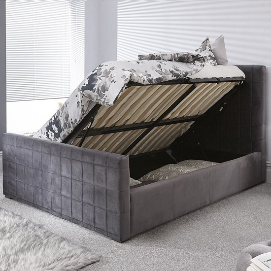 Luckey Upholstered Ottoman Storage Bed In Grey_2