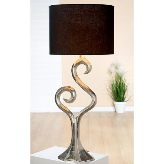 Luma Large Table Lamp In Silver And Brown_1