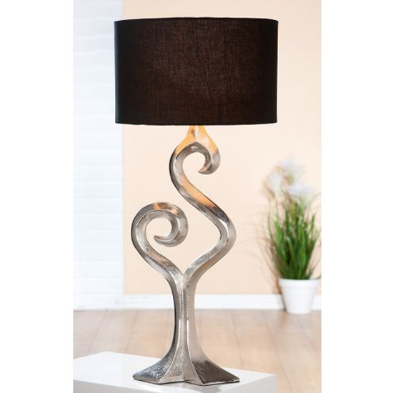 Luma Small Table Lamp In Silver And Brown
