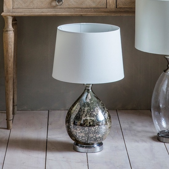 Lumley Table Lamp With Mottled Glass Vase
