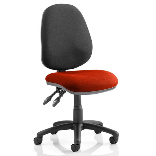 Luna II Black Back Office Chair In Ginseng Chilli